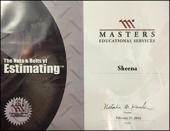 MES Sheena Certification