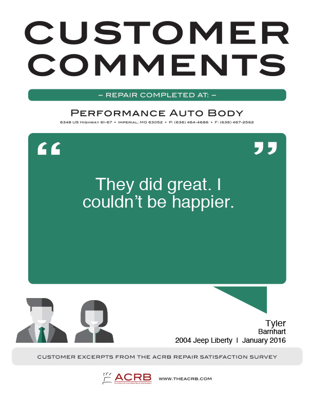 Performance Customer Review